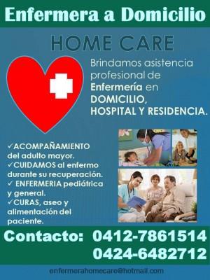 enfermera a domicilio home-care maracaibo/costa oriental del lago