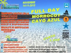 full day cayo azul morrocoy 2015 con fulldestinos