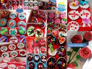 cupcakes tortas decoradas dilo con mensajes fondant
