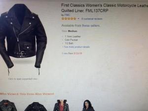 chaqueta de cuero genuino estilo rockera o motociclista
