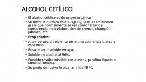 alcohol cetilico materia prima preparación de champú