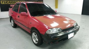 bonito chevrolet swift color rojo! año 92