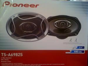 vendo cornetas pioneer 6x9 cuatro vias 440w