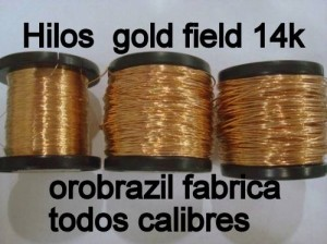 materiales gold field 14k para armar joyerias.