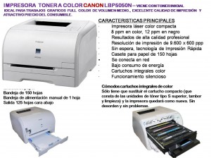 vendo impresora a toner de color ideal para diseÑo grafico